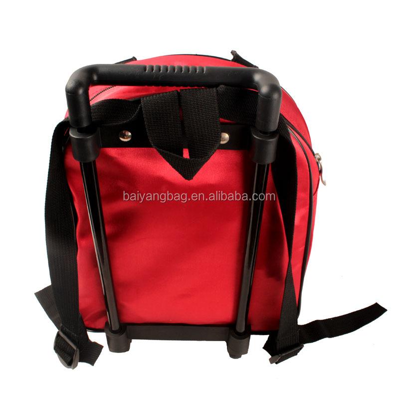 Backpack type kids wheel school bag