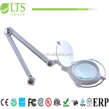 stronger swing arms magnifier lamp;dust cover lamp, metal handel,touch dimming SMD LED 7W/ uv led 3W