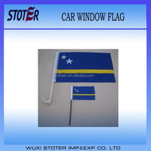 Cheap custom car window flag/hand waving flag