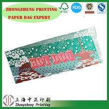 Shanghai laminated paper bags,hot dog paper bag for food,food packaging bag