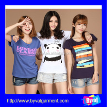 Cheap wholesale printed summer t shirts for ladies big tall wholesale t shirts