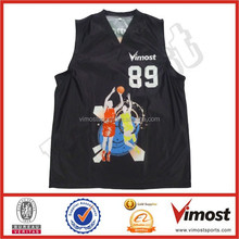 basketball top jerseys/dye sublimation printing clothing factory