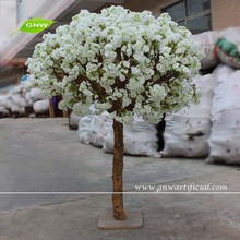 GNW BLS069 Wedding Centerpieces 4ft Artificial Cherry Blossom Tree for Tables in White flower