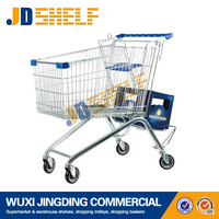 easily folding electric shopping cart with wheels
