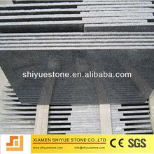 Chinese Natural Polished Dark Grey Granite Floor Tile