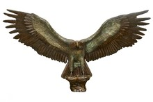 Casting bronze metal spread wings eagle sculpture