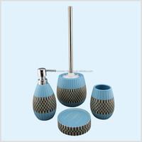 unique stripe porcelain bathroom set