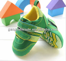 Green Simple Design Cheap Baby Prewalker Shoes