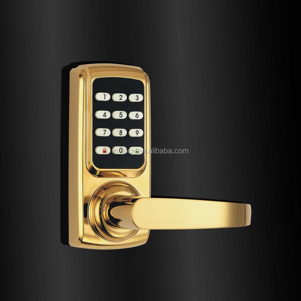 how to change code on push button door lock