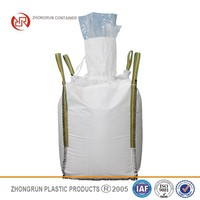 FIBC bag with white PP handle, UV Treated,1000kg uv resistance FIBC bag for sand packaging