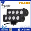 Y&T auto parts aluminum housing 9.5inch 40w battery powered led light bar IP67