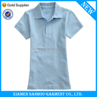 Fashionable Ladies Polo Collar Tee Shirts Custom Made Comfortable Embroidered
