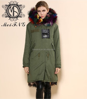 winter women clothing 100% real fox fur clothing from fur factory