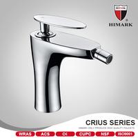 Contemporary chrome bidet faucet brass gun faucet