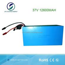 pacco batteria al litio industriale vuoto clearner 37v 12600 mah batteria ricaricabile