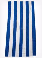 white and blue stripes microfiber printed beach towel