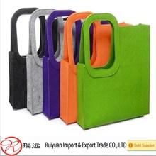Factory best selling felt shopping bag ,recyclable felt handbag ,eco-friendly felt tote bag
