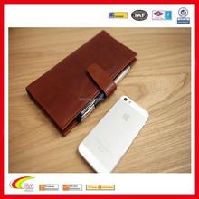 Mens Genuine Leather Passport Long Wallet/Retro Travel Handbag