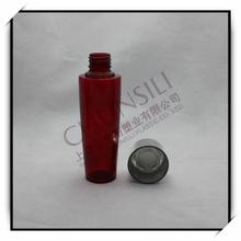 150ml plastic Semi transparent red PET engine oil plastic bottle