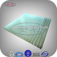 Weather resistance low weight plastic roof panel for industrial workshop