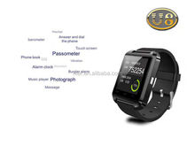 Competitive price high quality accept paypal bluetooth u8 smart watch with stop watchand barometer for android phone