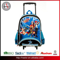 2015 Top New School Bag Trolley Backpack with Wheels for Boy