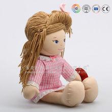 Beautiful custom design soft stuffy handmade doll