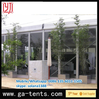 aluminium frame fire,water,sun proof tent for car wash 850G/SQM top cover 650G/SQM sidewall