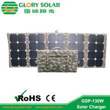 high efficiency 130W sunpower solar module foldable solar panel for drone/UAV and military