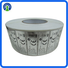 High Quality Roll Waterproof Silver Label, Adhesive Matt/Glossy Silver Label