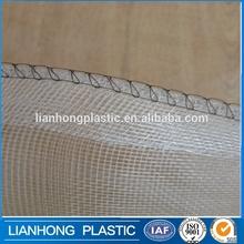 Low price mesh drawstring bag with handle, portable mesh bag with virgin HDPE material,green drawstring mesh bag