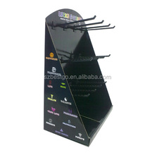 Key Chain Corrugated Paper Hanging Display Rack with Hooks