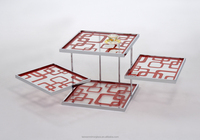 3 floor glass coffee table