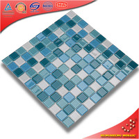Wholesale 23*23mm swimming pool glass backsplash mosaic tile