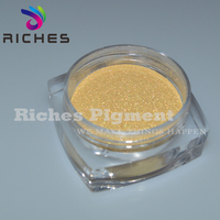 Sparking inorganic golden pearl pigment for plastic & rubber