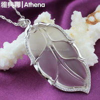 Small quantity order silver 925 oem crystal wedding charm necklace