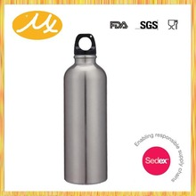 18/0 metal with Carabiner Clip narrow mouth sport water bottle SN412