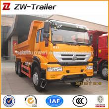 Howo 6x4 chino mina utiliza volcado de camiones para la venta del carro de elevación 336hp/371hp hw76 cabina para la venta
