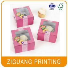 Customized cardboard cupcake box