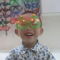 2016 cheap chinese manufacturer fashion shining chrismas tree kids glasses