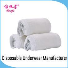las mujeres desechables de algodón caliente ropa interior ropa interior para el viajero