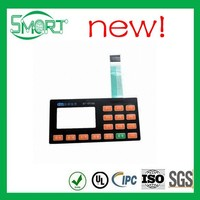 Smart bes~NEW! Membrane Keypad and Graphic Overlay, Touch Screen Overlay Membrane, FPC Membrane Switch With Metal Dome Tactile
