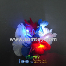 Glowing White/Blue/Red Flower Hawaiian Lei Bracelets