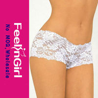 Cheap Plus Size White Sexy Mesh Lace Young Girls G-string