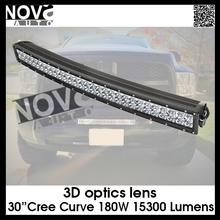"Higher Output 3D Cheap 30"" 180W Curved Truck Led Light Bar"
