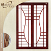 Three panel soundproof interior wooden glass sliding doors