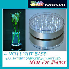 Hot Fashion and New Design of Indoor Party Club 6 Inch LED lLight decoration Light Base