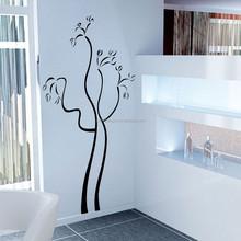 Alto número de ventas calientes naturales de la etiqueta engomada brillante de casa decoración tatuajes para baños