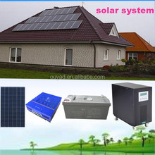 5KW solar panel system for home 20kw polycrystalline silicon solar power system with solar sine wave power inverter