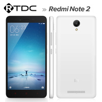 Wholesale 5.5 inch 13MP MTK X10 2GB RAM 16GB ROM 4G TDD LTE Xiaomi Redmi Note 2 Smart Phone